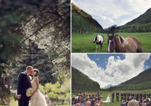 Aspen wedding ceremony