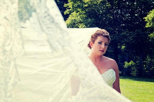 gorgeous bride at the Biltmore Estate