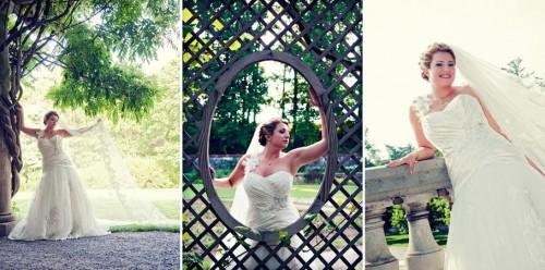 Garden bridal portrait at the Biltmore