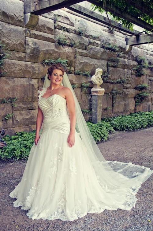 Smiling Biltmore Bride