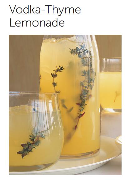 Vodka Thyme Lemonade