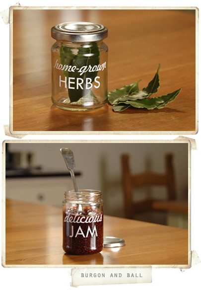 herbs and jams in a jar
