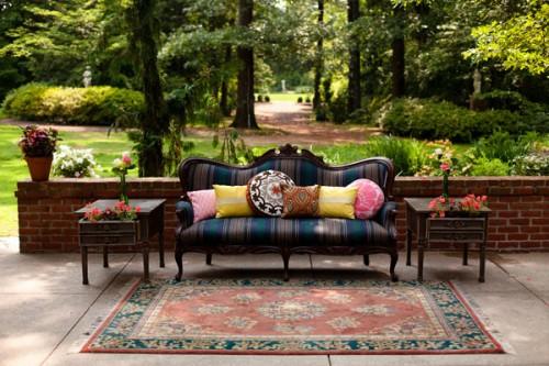 rustic outdoor wedding lounge