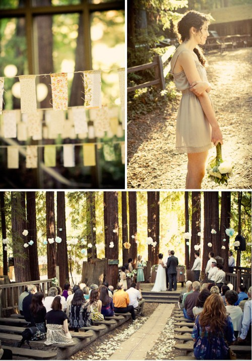 Fall wedding in the woods