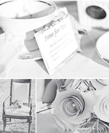 black and white high tea