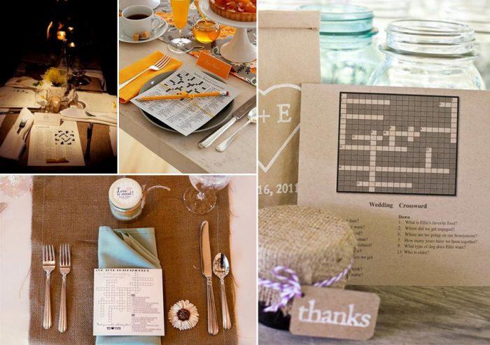 wedding crossword puzzles