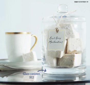 homemade earl gray marshmallows in a jar