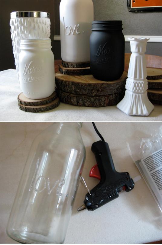 DIY message on a mason jar
