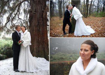 woodland bridal shoot in Europe