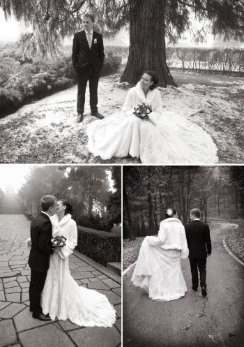 snowy European bridal shoot