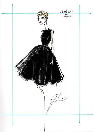 sketch by designer Jason Wu for Target