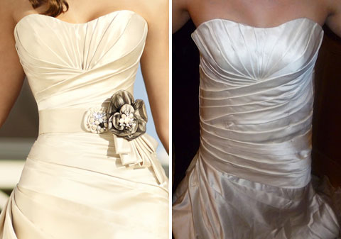 hideous wedding dress made in China