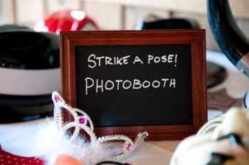 photobooth chalkboard sign