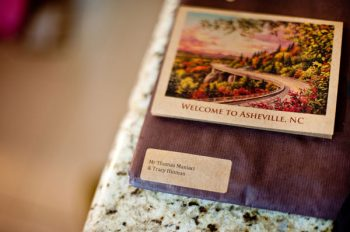 historic asheville postcard wedding guest book