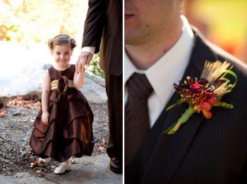brown wedding details