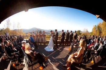 wedding ceremony at the Crest Center in Asheville