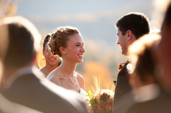 fall wedding ceremony in Asheville