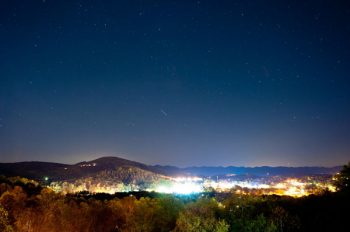 City view of Asheville at night