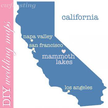 wedding map of Mammoth Lakes