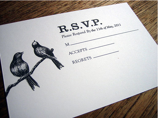 printable rsvp card with sparrows