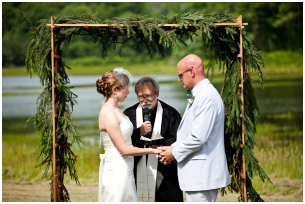camp wedding ceremony in western maryland