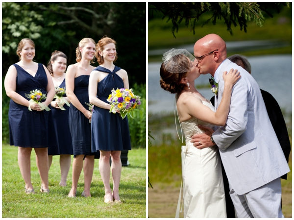 western maryland bride and groom first kiss