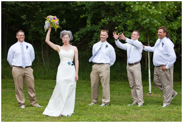 bouquet toss to the guys