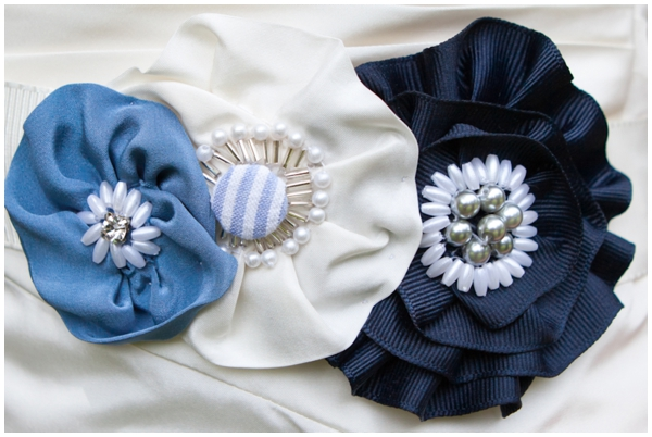handmade fabric flower belt