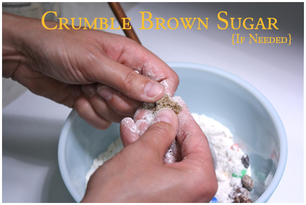 Crumble dried out brown sugar