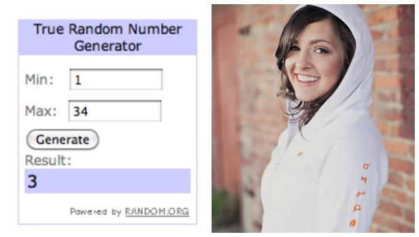 Randon.org giveaway pick