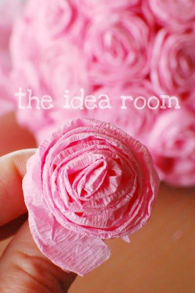 Tissue paper rosettes