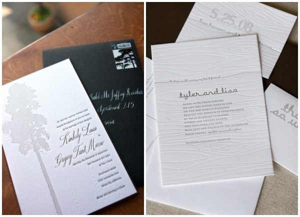classic faux bois wooden wedding invitation