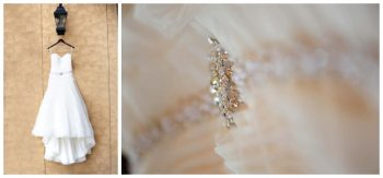 wedding dress with glamorous bead work