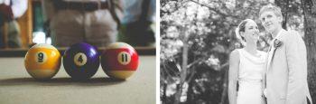 pool balls and portraits