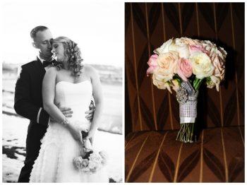 colorado wedding portrait and bridal bouquet
