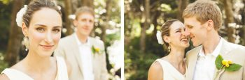 mountain ranch bride and grooms first look