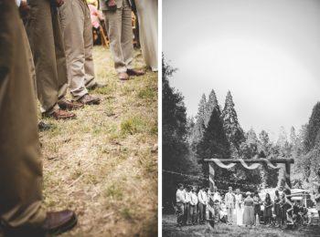 mountain ranch wedding ceremony