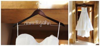 clair and john custom wedding hanger