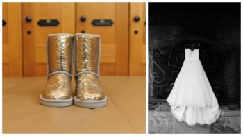 gold sequined Uggs