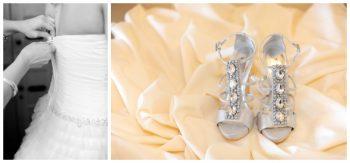 glamorous silver wedding shoes