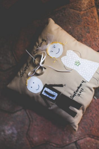 handmade ring pillow