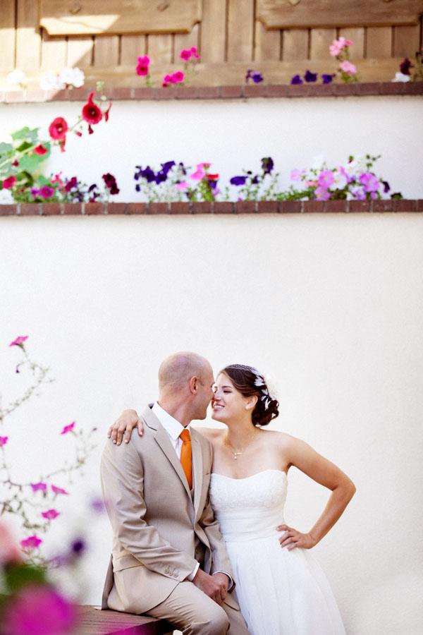 idaho bride and groom in vintage alpine setting