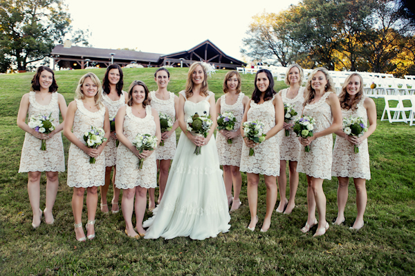 country lace bridesmaid dresses