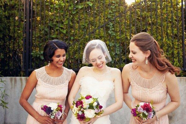 vintage lace coller bridesmaids dresses