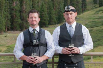 grooms men with go pros