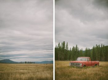 vintage pickup truck in the Sierra foothills
