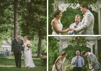 outdoor ceremony at Twenty Mile House