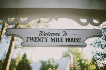 twenty mile house sign