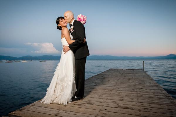 Lake Tahoe bride and groom