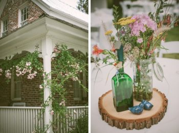 twenty mile house and wildflower centerpieces